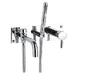 Bath Shower Mixer Chrome Dublin